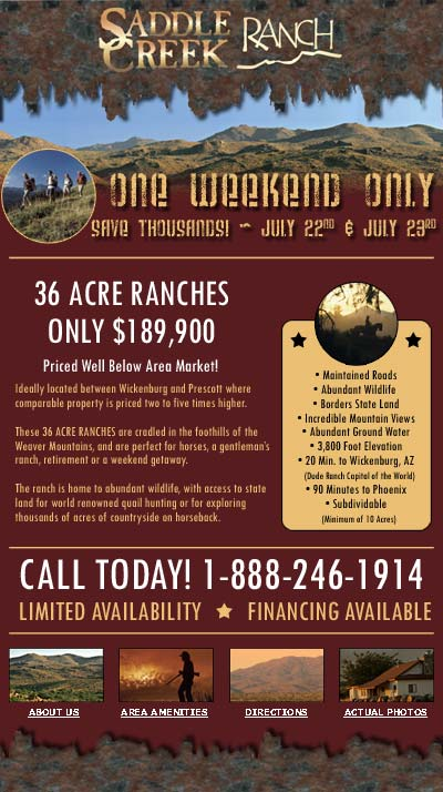 Saddle Creek Ranch Email Newsletter