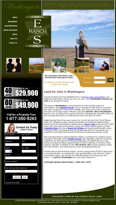Eagle Springs Ranch Home Page