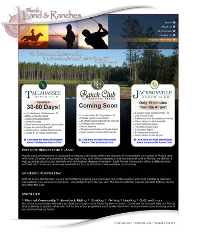 Florida Land & Lakes Home Page