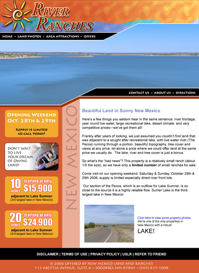 River Ranches Home Page