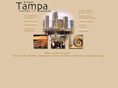 Tampa Chamber of Commerce Alternate Home Page