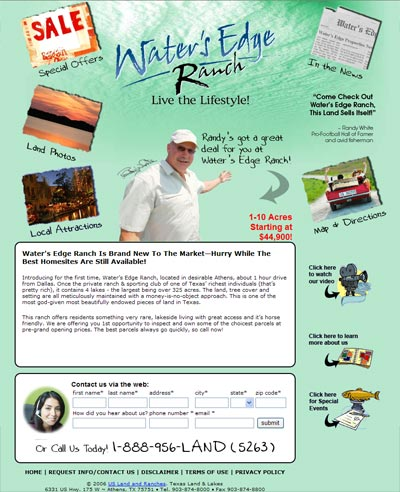 Water's Edge Ranch Home Page