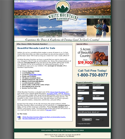 White Mountain Ranches Home Page