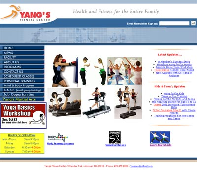 Yangs Fitness Home Page